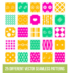Different ornamental geometric big pattern set vector