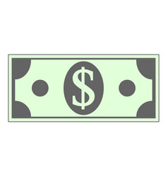 dollar icon on white vector image