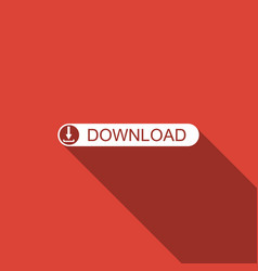 download button with arrow icon with long shadow vector image