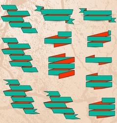 Drawn paper ribbons vector image