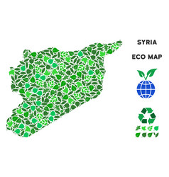 Ecology green composition syria map vector
