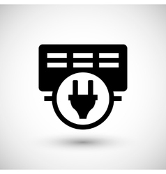 Electric heater icon vector image