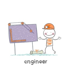 engineer sketched on a blackboard vector image