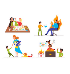 Family communication problems vector