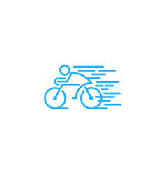 fast bike logo icon design vector image
