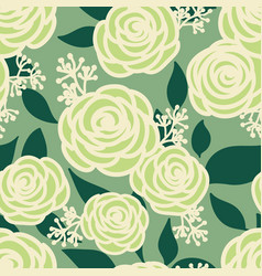 floral seamless pattern with cute flowers vector image