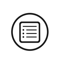 flyer line icon with a circle on a white vector image