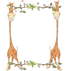 Framework with giraffes vector