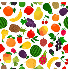 Fruits tropical seamless pattern vector