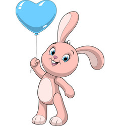 Funny baby rabbit vector