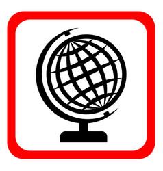 globe icon globe symbol flat vector image