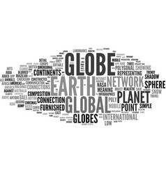 Globe word cloud concept vector