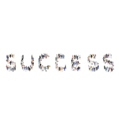 Group of people success poster vector