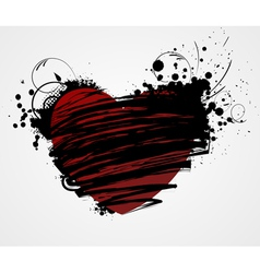 heart grunge vector image vector image
