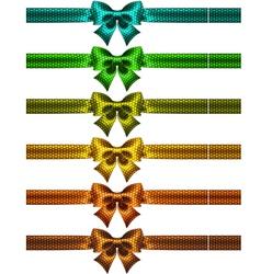 Holiday polka dot bow knots with ribbons vector image