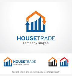 House trade logo template design vector