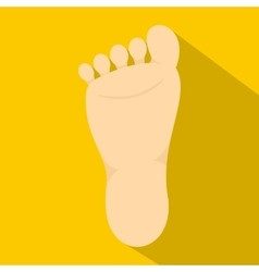 Human foot icon flat style vector image