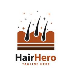 human hair growth logo vector image