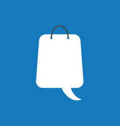 icon concept of shopping bag with speech bubble vector image