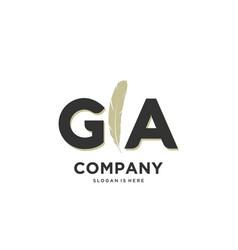 Initial ga letter unique attractive creative vector