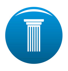 Italian column icon blue vector