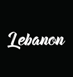 Lebanon text design calligraphy vector
