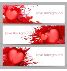 Love Banner for Valentines Day vector image