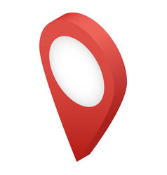 map pin icon isometric style vector image