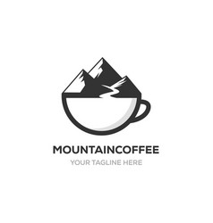 mountain coffee logo vector image