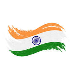 National flag of india designed using brush vector