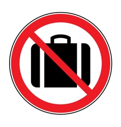 No suitcase sign vector