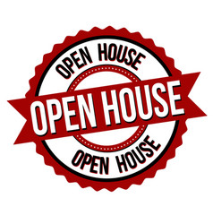 open house label or sticker vector image