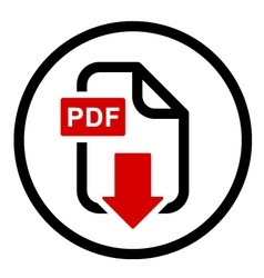 PDF file download simple icon vector