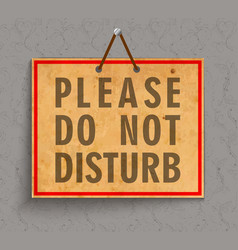 Please do not disturb sign vector