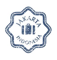 postal stamp from jakarta vector image