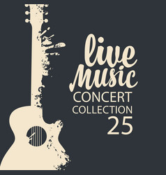 Poster for a live music concert with a guitar vector