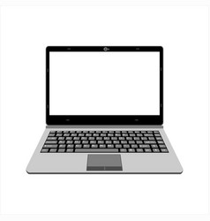 realistic laptop in gray color vector image