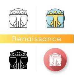 Renaissance art style icon vector