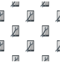 Repaired phone pattern seamless vector