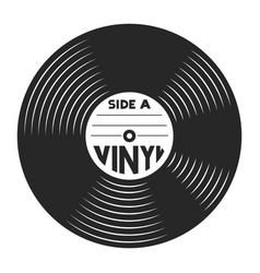 Retro vinyl record concept vector