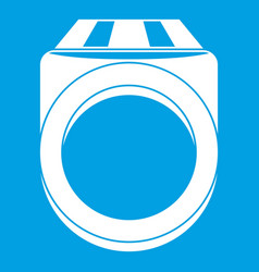ring icon white vector image