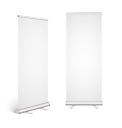 roll up banner isolated on white background eps10 vector image