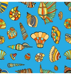 seashell seamless pattern vector image