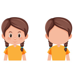 Set braids girl vector