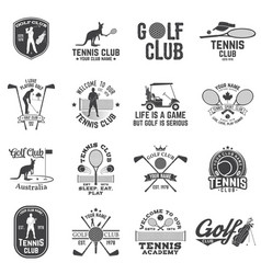 Set of golf club tennis club concept vector