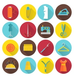 Sewing Equipment Icons vector image