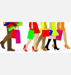 Shopping legs vector