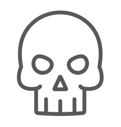 skull line icon halloween and death vector image