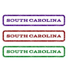 south carolina watermark stamp vector image