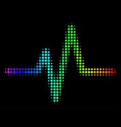 Spectrum pixel pulse icon vector